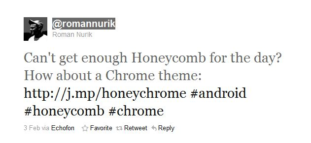Get Honeycomb theme for Chrome (2/2)