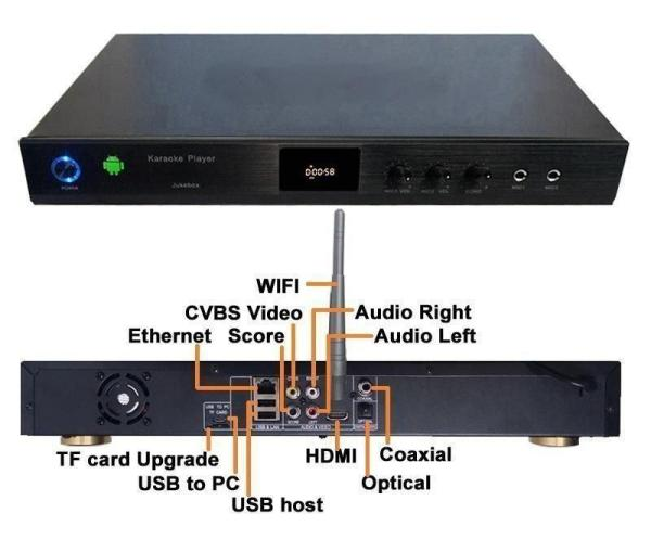 5Tb Android KTV-8866E 5TB Vietnamese karaoke player 31700+ song with 2 books and 2 remote-42