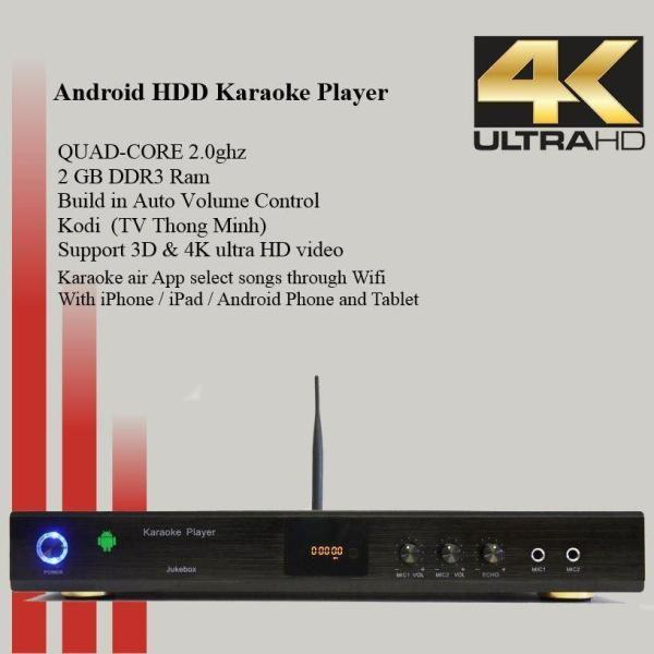 Android KTV-8868E karaoke player 4tb harddrive load with 33000 + Vietnamese songs-0