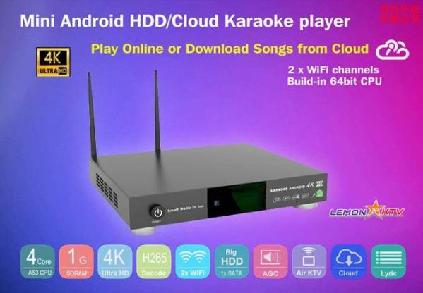 KHP-8816 ANDROID 6TB HARD-DRIVE VIETNAMESE ENGLISH KARAOKE PLAYER WITH 57000+ SONGS with REMOTE and books-0