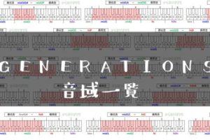 GENERATIONS歌手音域一覧トップ