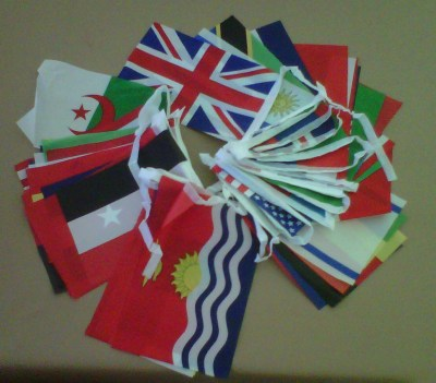 Bunting string flags
