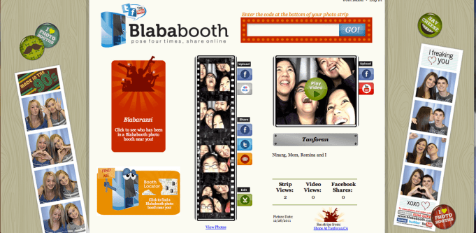 Online prints of our photobooth shots in Tanforan