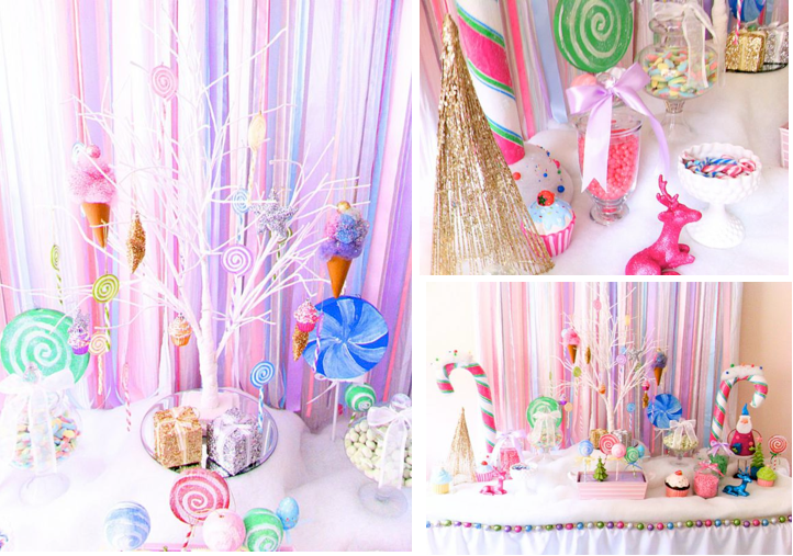 Kara S Party Ideas Glittery Christmas Candy Land Sweet Girl Boy Planning