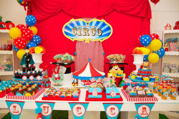 Kara S Party Ideas Circus Carnival 1st Birthday Boy Girl Party Planning Ideas Decorations
