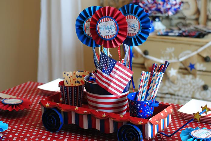Kara S Party Ideas Red White Blue July 4th Party Planning Ideas Cake Idea Supplies