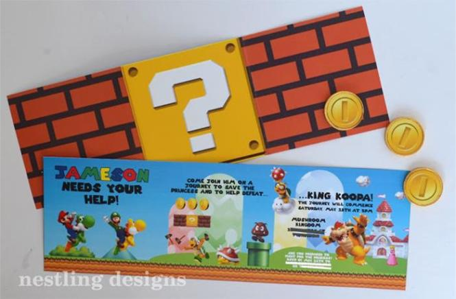 Items And Supplies Used In This Super Mario Bros Party Available Kara 39 S Ideas