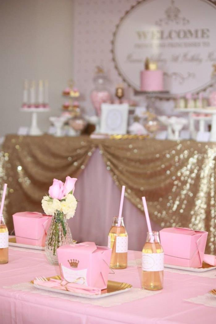 Karas Party Ideas Pink And Gold Princess Party With Lots