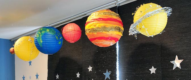 Karas Party Ideas Astronaut Themed Birthday Party