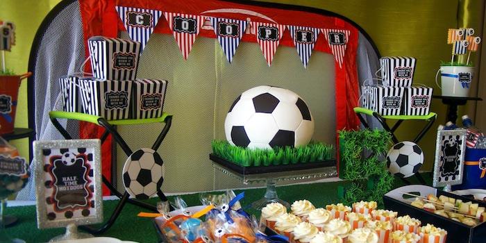 Kara S Party Ideas Kickin Soccer Birthday Party Planning Decor Ideas Cake Idea