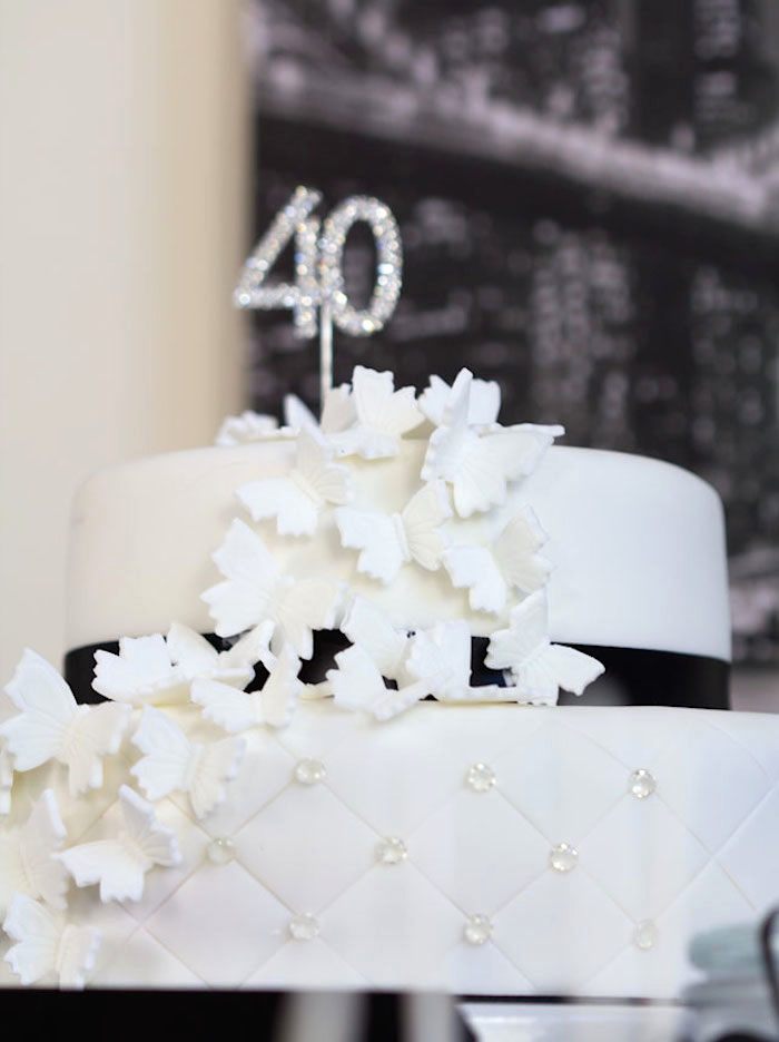 Kara S Party Ideas Stylish Black And White 40th Birthday