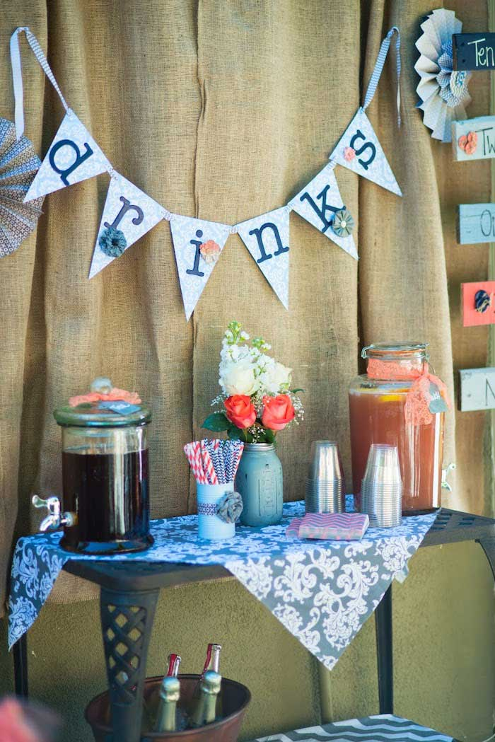 Karas Party Ideas Vintage Gender Neutral Baby Shower With