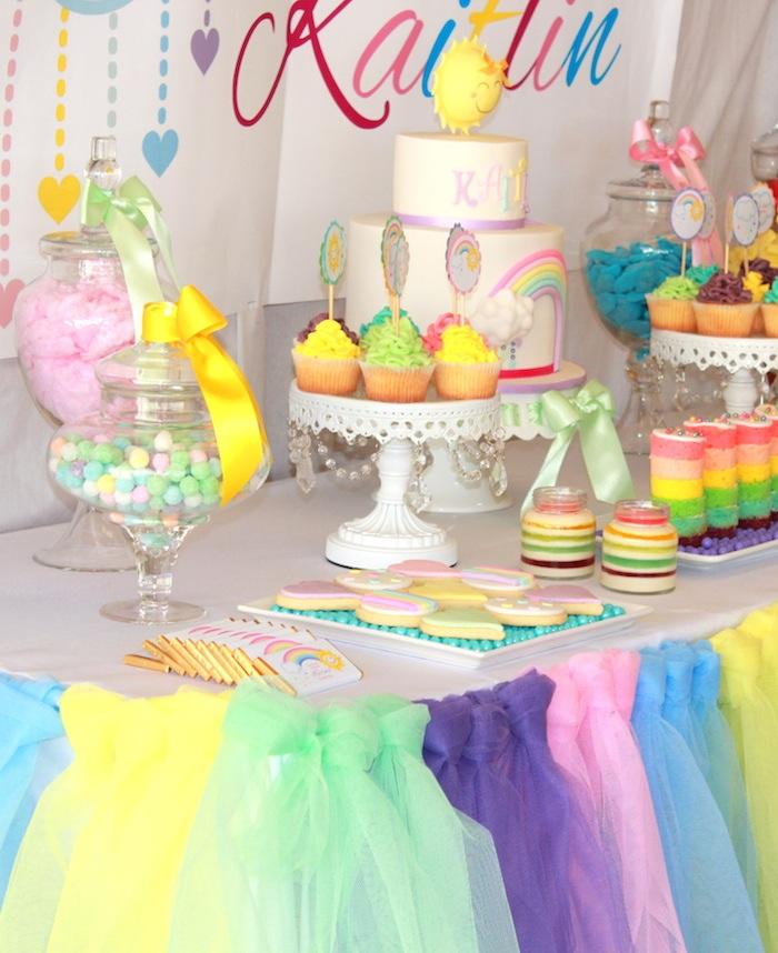Kara S Party Ideas Pastel Rainbow 3rd Birthday Party Via