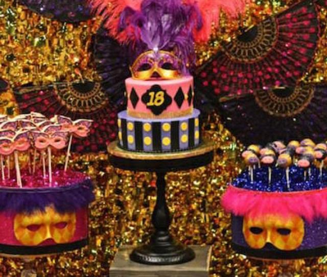 Karas Party Ideas Masquerade Th Birthday Party