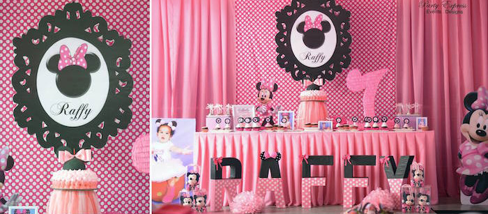 Kara S Party Ideas Minnie Mouse Birthday Party Kara S Party Ideas