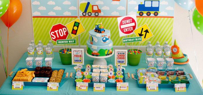 Kara S Party Ideas Transportation Themed Birthday Party