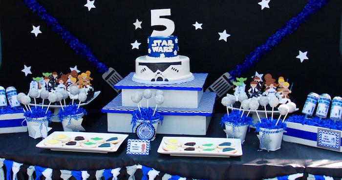 Kara S Party Ideas Star Wars 5th Birthday Party Kara S Party Ideas