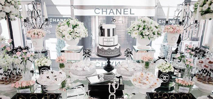 Karas Party Ideas Chanel Inspired 30th Birthday Party
