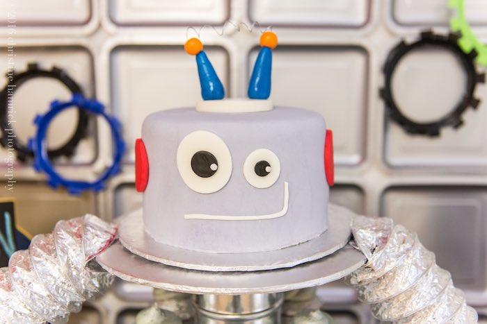 Karas Party Ideas Colorful Robot Birthday Party Karas