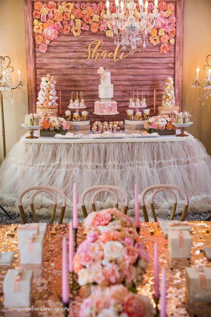 Kara S Party Ideas Pink Gold 1st Birthday Party Kara S Party Ideas