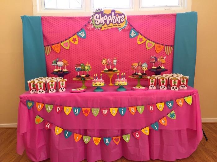 Kara S Party Ideas Girly Shopkins Birthday Party Kara S Party Ideas
