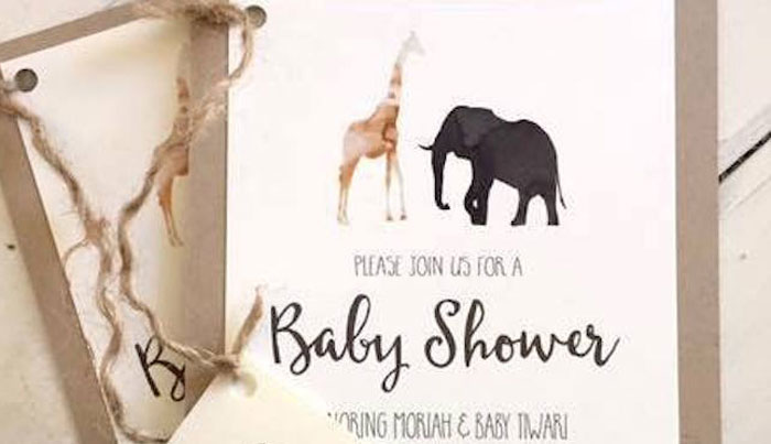 Baby Shower Invitations Jungle Safari Animals