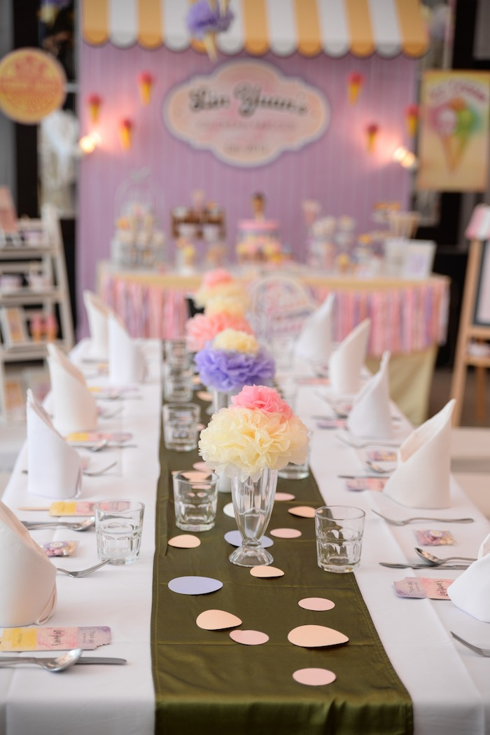 Karas Party Ideas Ice Cream Parlor Birthday Karas