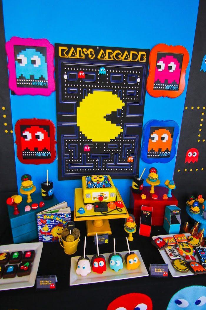 Kara S Party Ideas Pac Man Themed Birthday Party Kara S Party Ideas