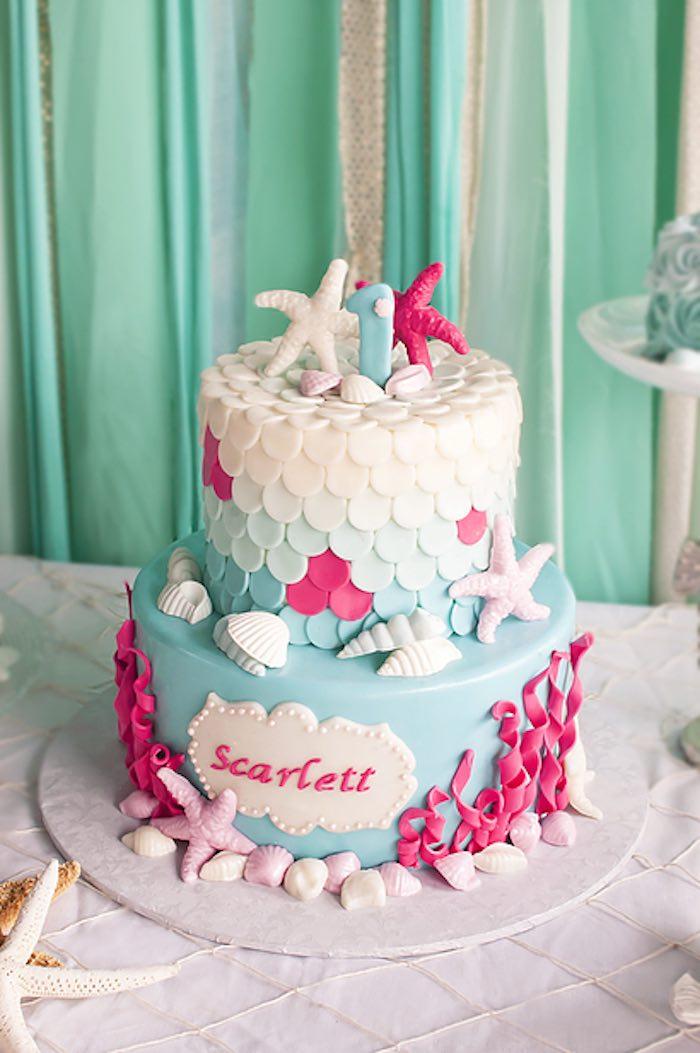 Kara S Party Ideas Littlest Mermaid 1st Birthday Party Kara S Party Ideas