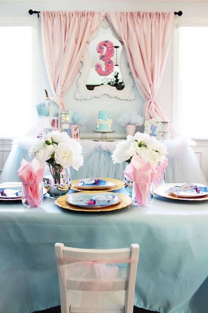 Karas Party Ideas Princess Pink Cinderella Birthday Party