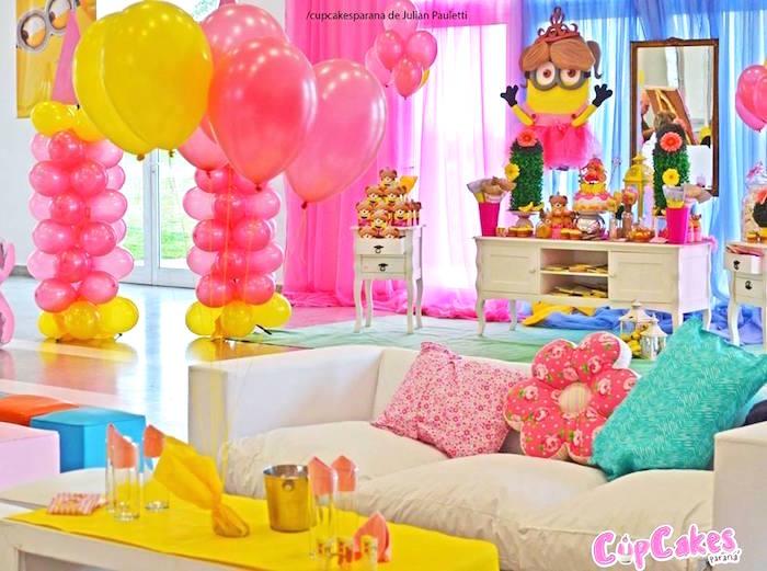 Kara S Party Ideas Princess Minions Themed Birthday Party Kara S Party Ideas