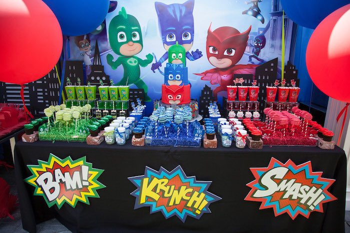 Kara S Party Ideas Pj Masks Superhero Birthday Party Kara S Party Ideas