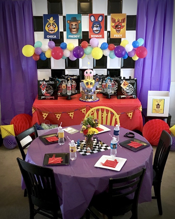 Five Nights At Freddy S Video Game Birthday Party Cutouts Freddy Bonnie Chica Oo Greeting Cards Party Supply Party Supplies