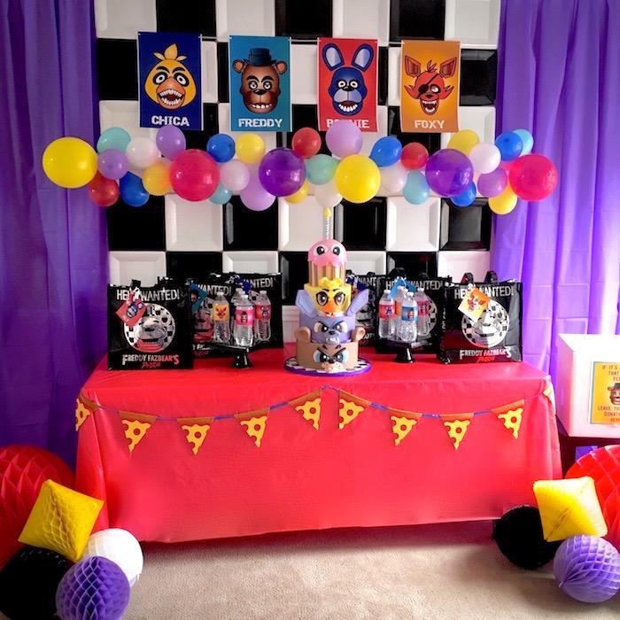 Kara S Party Ideas Five Nights At Freddy S Birthday Party Kara S Party Ideas