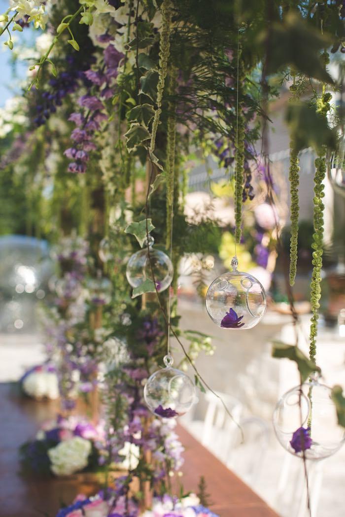 Karas Party Ideas Vintage Enchanted Garden Birthday Party