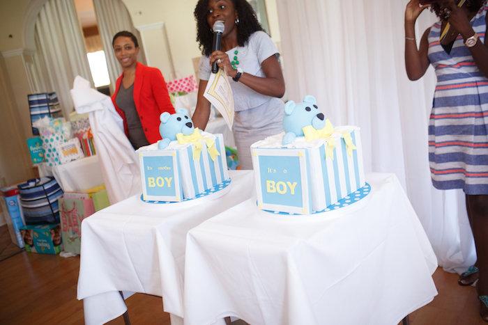 Karas Party Ideas Yellow Amp Gray Alphabet Baby Shower Gender Reveal Karas Party Ideas