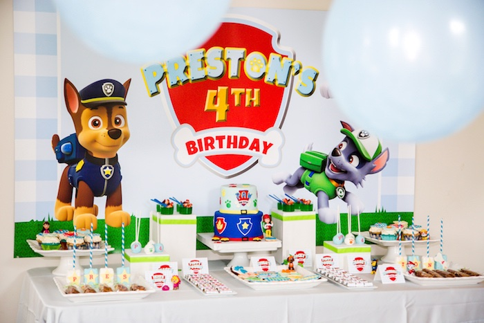 Kara S Party Ideas Chic Paw Patrol Birthday Party Kara S Party Ideas