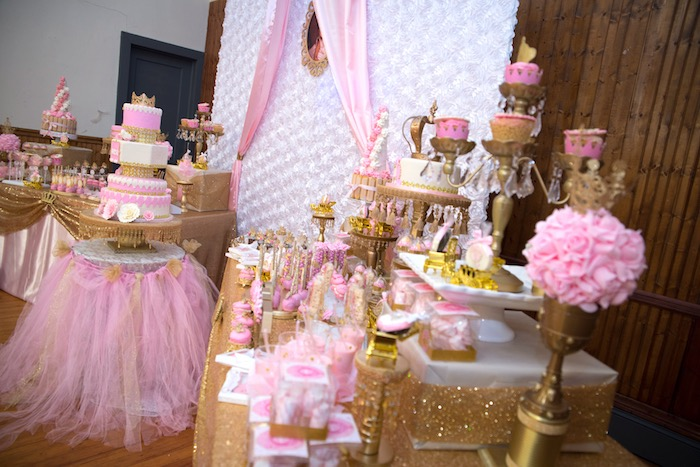 Karas Party Ideas Dessert Table From A Royal Princess