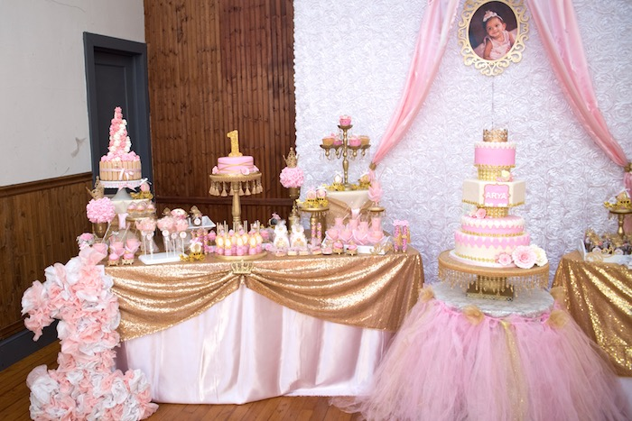 Karas Party Ideas Gold Amp Pink Royal Princess Birthday