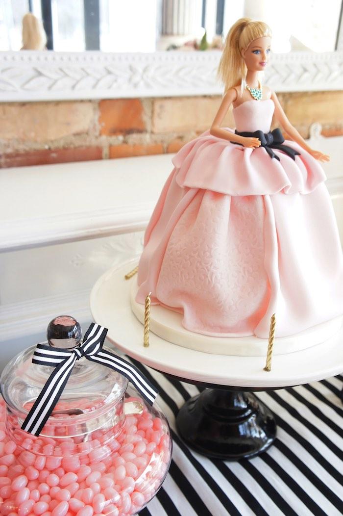 glam barbie baking birthday party