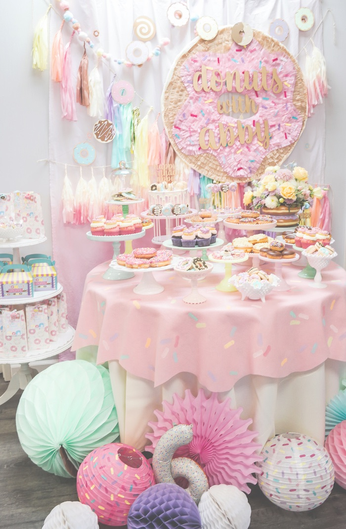 Karas Party Ideas Pastel Donut Birthday Party Karas