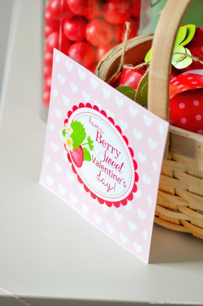 Karas Party Ideas Berry Sweet Strawberry Valentines Day Party Free Printables Karas Party