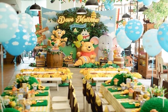 Kara S Party Ideas Winnie The Pooh 1st Birthday Party Kara S Party Ideas