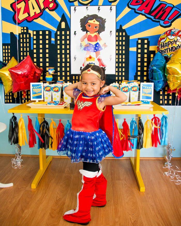 Kara S Party Ideas Wonder Woman Superhero Birthday Party Kara S Party Ideas