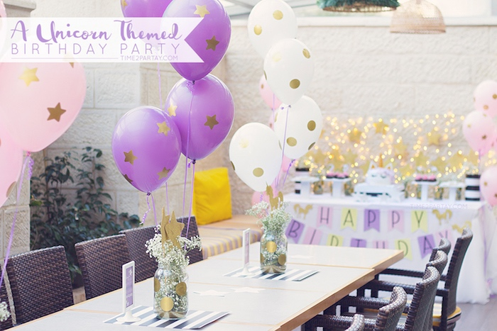 Karas Party Ideas Starry Unicorn Birthday Party Karas