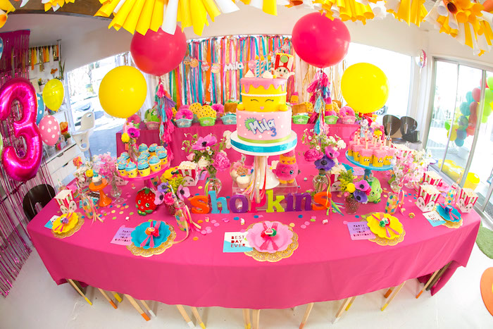 Kara S Party Ideas Floral Shopkins Birthday Party Kara S Party Ideas