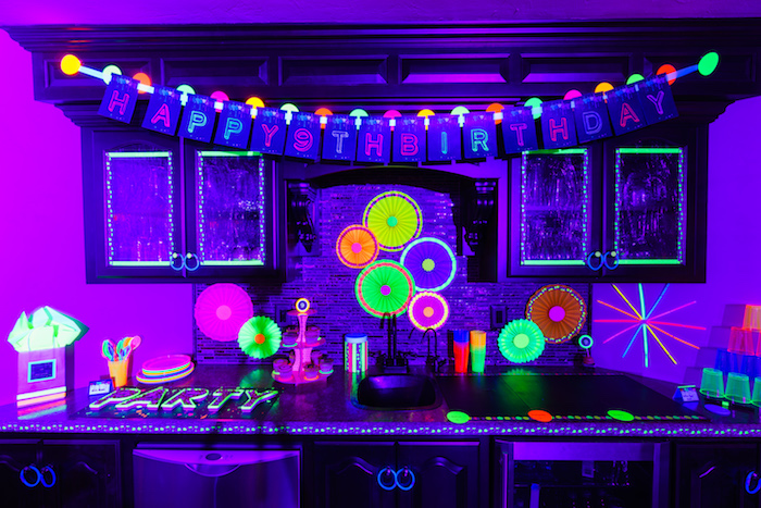Kara S Party Ideas Glow Dance Birthday Party Kara S