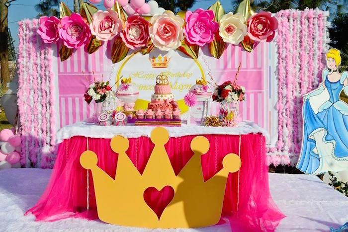 Kara S Party Ideas Pink Royal Princess Birthday Party