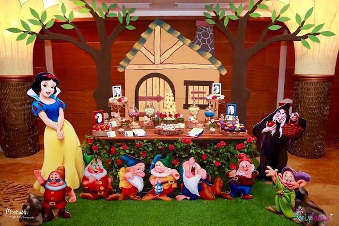 Kara S Party Ideas Snow White The Seven Dwarfs Birthday Party Kara S Party Ideas