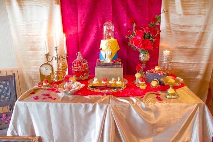 Kara S Party Ideas Beauty And The Beast 1st Birthday Party Kara S Party Ideas